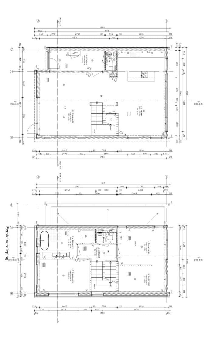 bouwtekening nieuwbouw huis