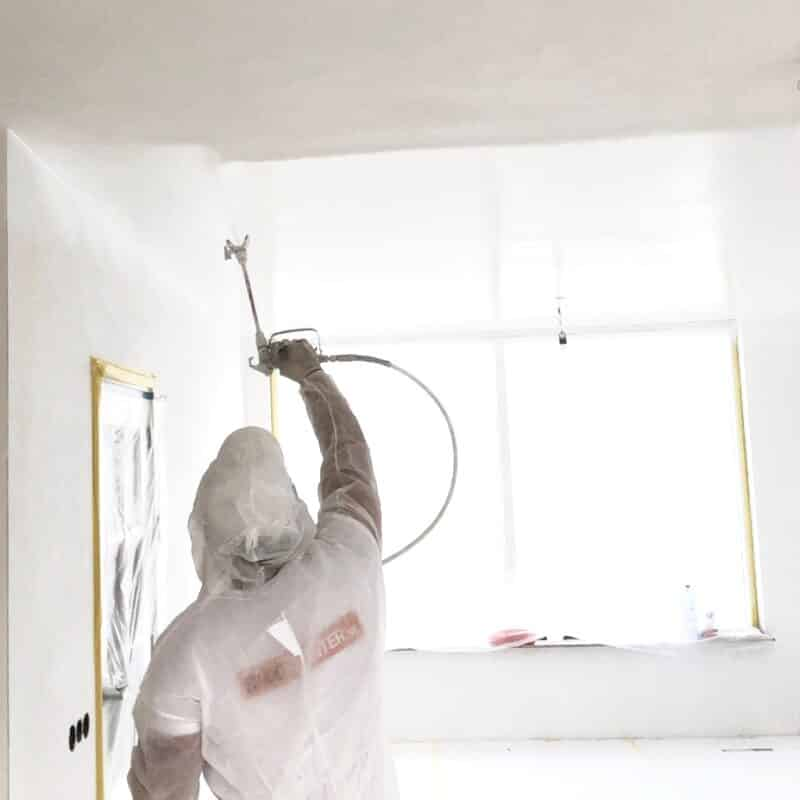 latex verf spuiten plafond